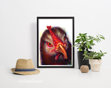 """Whaaaat!?!"" Chicken A4 Limited Edition Giclee Print"