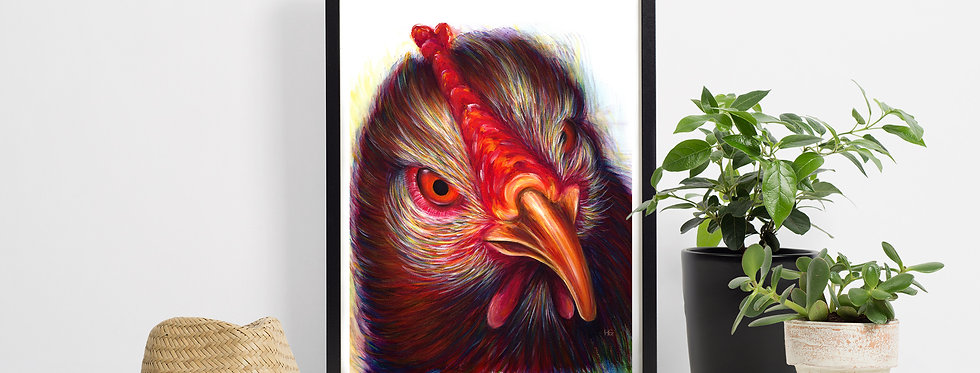 """""""Whaaaat!?!"""" Chicken A4 Limited Edition Giclee Print"""
