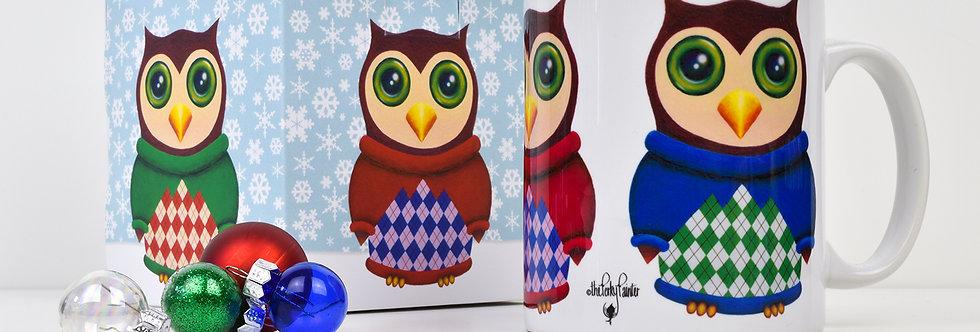 Owls in Jumpers Mug