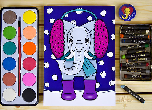 Elephant Character Notebook
