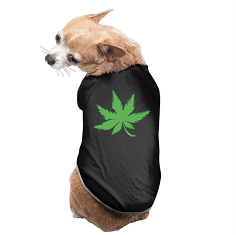 Dog Clothes | Puppy Vest | Soft Thin Weed Marijuana Green Leaf