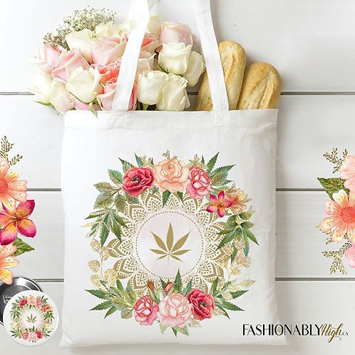 Rose Buds and Flowers Tote bag - Fashionably High