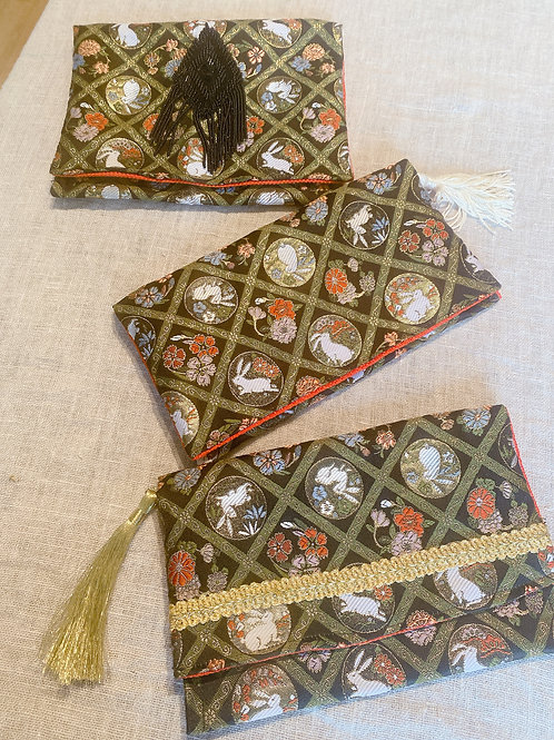 Clutch Purses-Each one of a kind (Fabric from Kyoto)