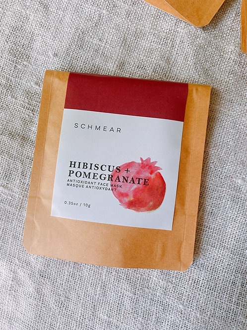 Hibiscus + Pomegranate Antioxidant Face Mask