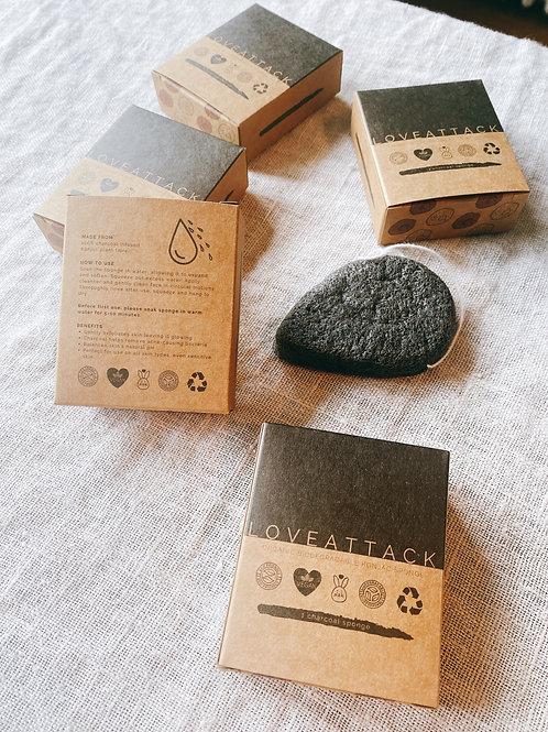 Organic Biodegradable Charcoal Konjac Sponge
