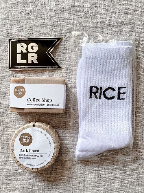 COFFEE LOVERS GIFT BAG / Skipping Stone & RGLR Coffee