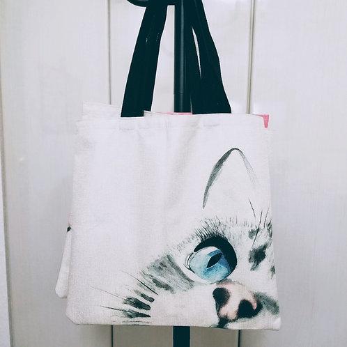 猫トートバック・瞳