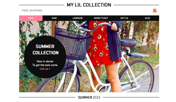 Mode & Bekleidung website templates – Sommerkollektion