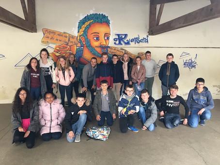 Ronsard s'invite sur les murs de Saint-Julien !
