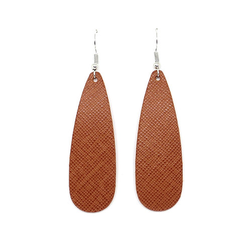 Chic Teardrop in Ginger Saffiano