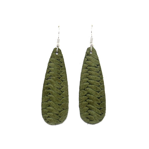 Chic Teardrop in Braided Olive