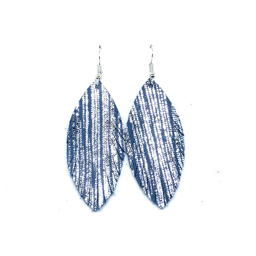 Sassy in Blue Metallic Stripe