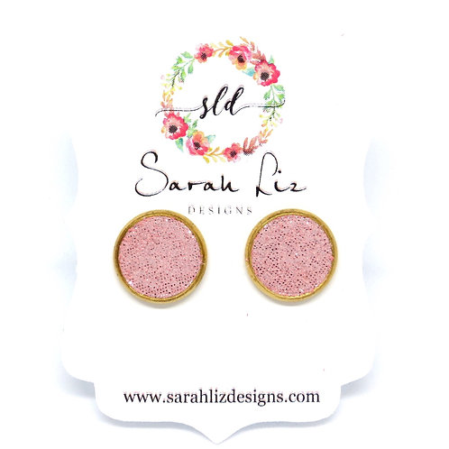 Studs in Shimmer Pink