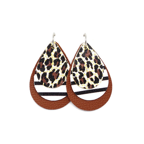 Interchangeable Tiny Leopard with Stripes - CHOOSE YOUR SHAPE