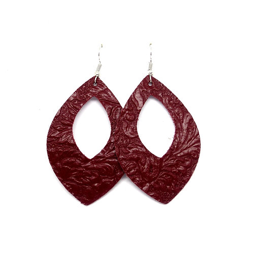 Grace Cutout in Embossed Maroon Floral