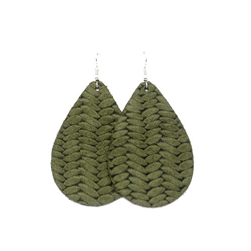 Classic Teardrop in Braided Olive