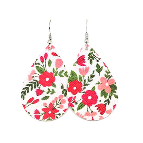 Classic Teardrop in Red and Pink Floral