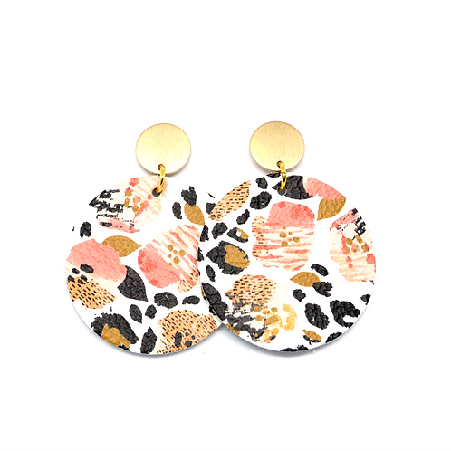 Leopard Pansy on Matte Gold Posts