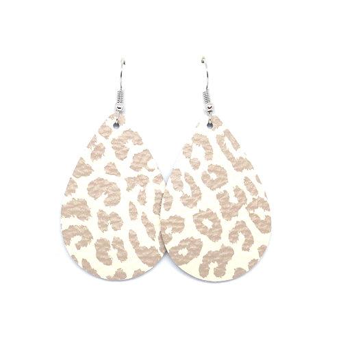 Nude Leopard - CHOOSE TEARDROP OR PETAL