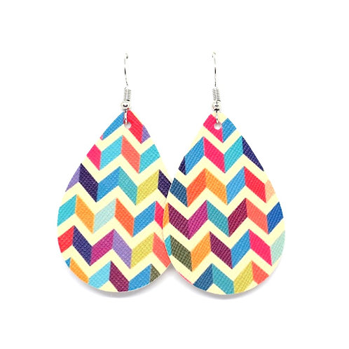 Classic Teardrop in Colorful Chevron