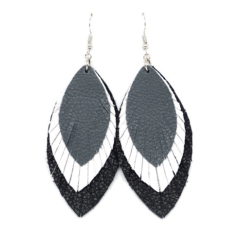 Layered Sassy Feathers in B&W