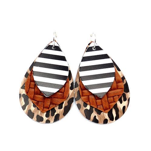 9-in-1 Earrings - Leopard and Stripes