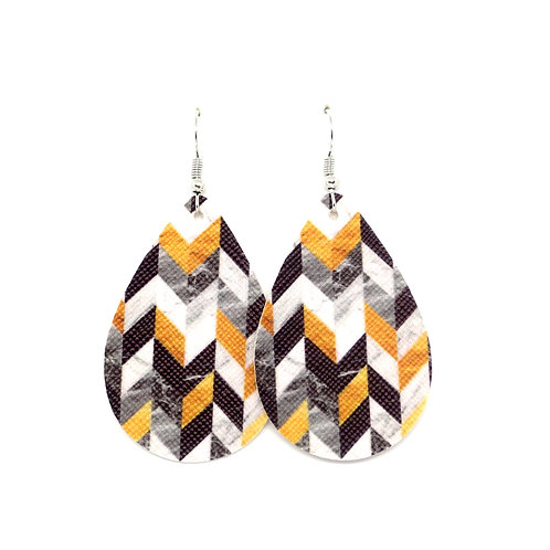 Classic Teardrop in Fall Chevron