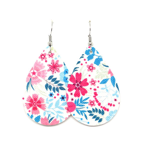 Classic Teardrop in Pink and Turquoise Floral