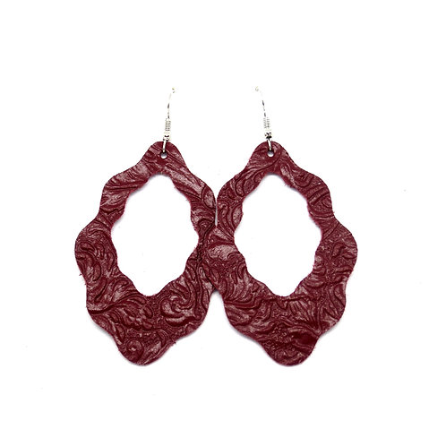 Gypsy Cutout in Embossed Maroon Floral
