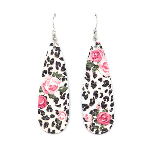 Chic Teardrop in Leopard Rose