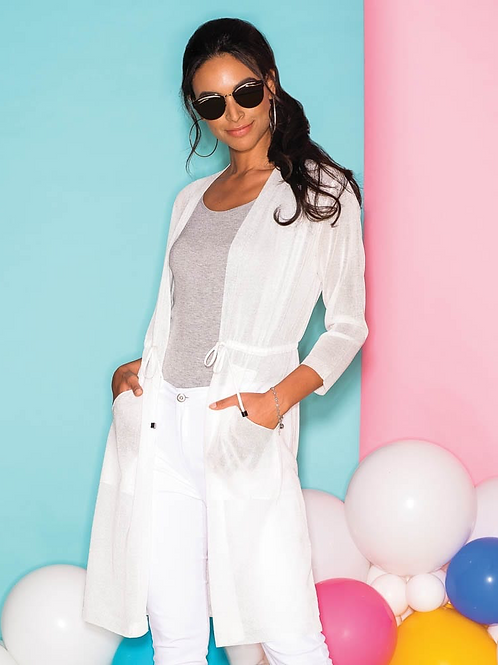 ELENA WANG White Cardigan