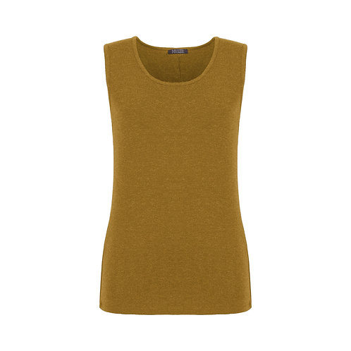 DOLCEZZA Mustard Tank/Knit Pullover