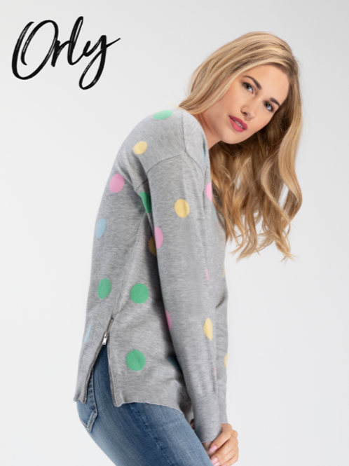 ORLY Polka Dot Sweater