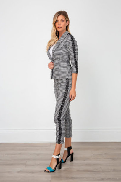 Spanner Check Lace Pant
