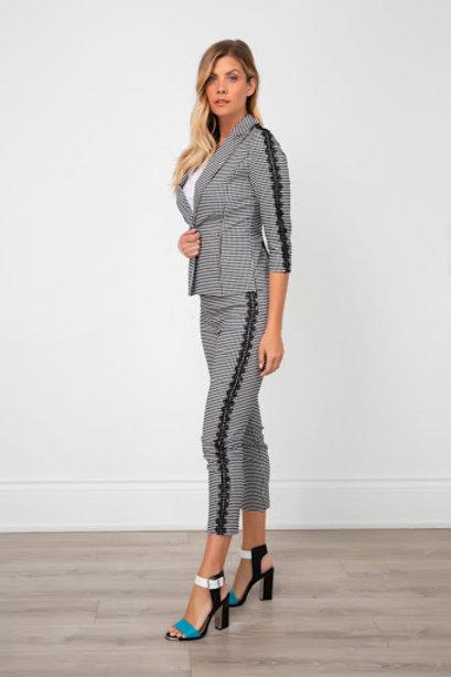 Spanner - Check Lace Blazer