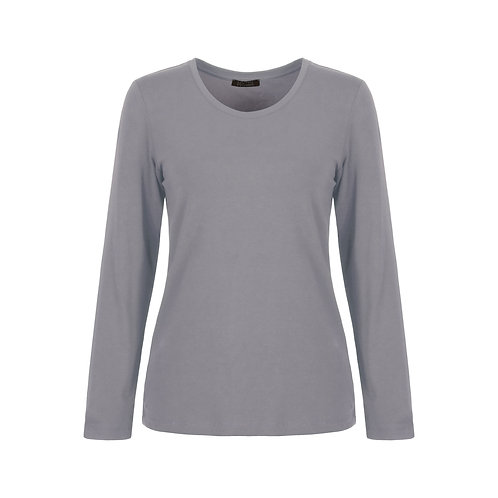 DOLCEZZA Silver Long Sleeve Tee