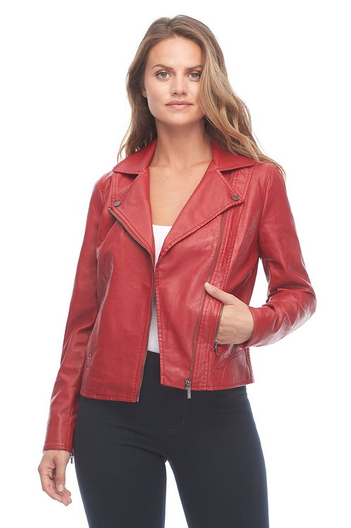 FDJ Faux Leather Moto Jacket