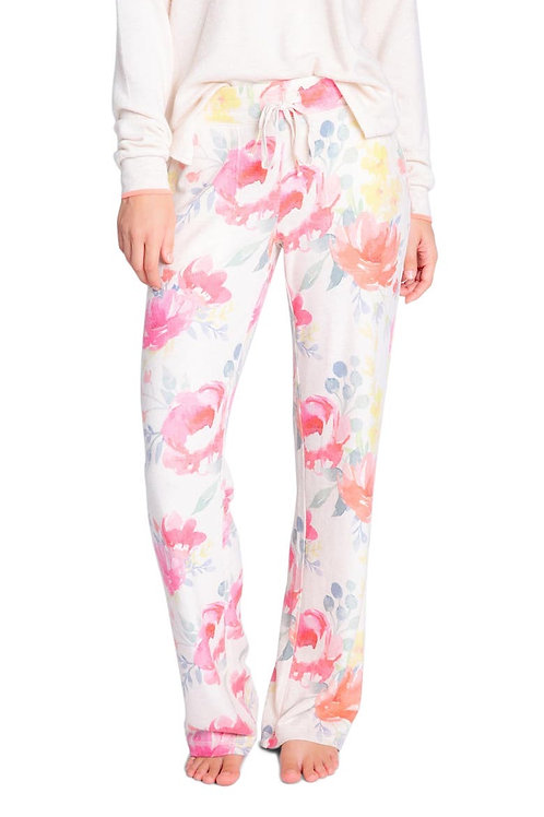 PJ SALVAGE Happy Blooms Oatmeal Pant