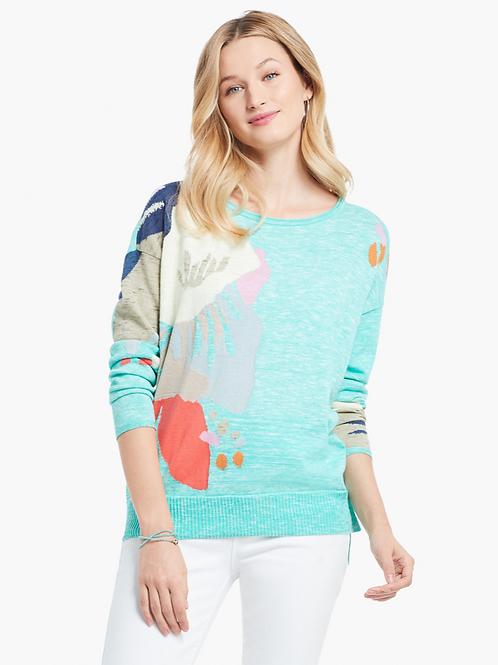 NIC + ZOE Petal Burst Sweater