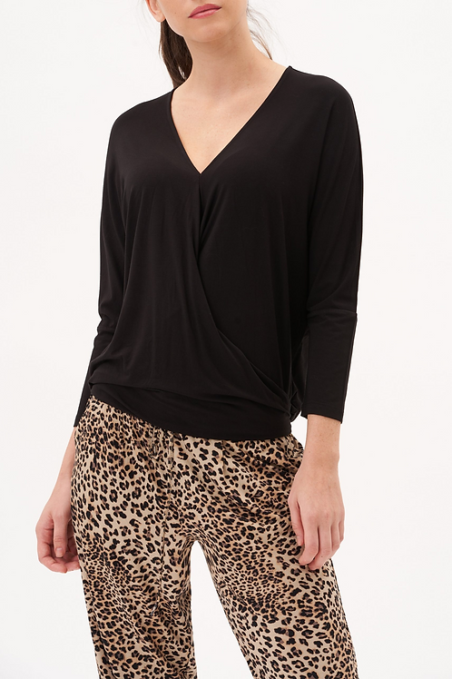 UP! Black Crossover Top
