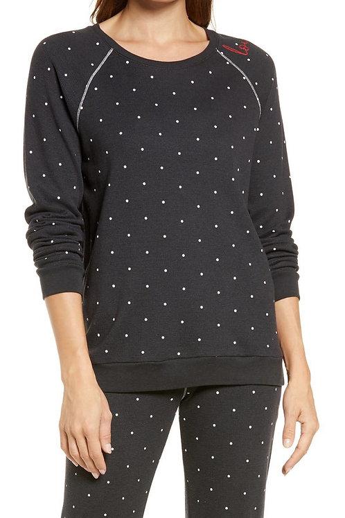 PJ SALVAGE Love More Thermal Pajama Top