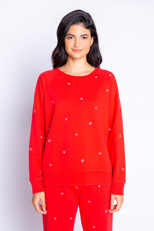 PJ SALVAGE Red Hot PJ Top