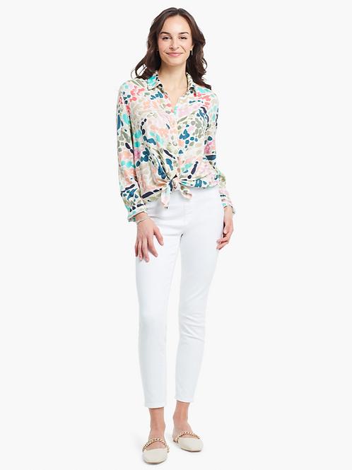 NIC + ZOE Color Splash Shirt