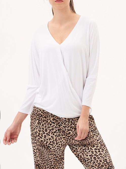 UP! White Crossover Top