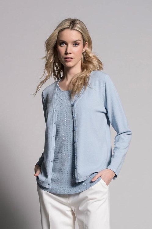 PICADILLY Blue Fog Cardigan Sweater