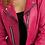 Thumbnail: JOSEPH RIBKOFF Fuchsia Faux Suede Moto Jacket