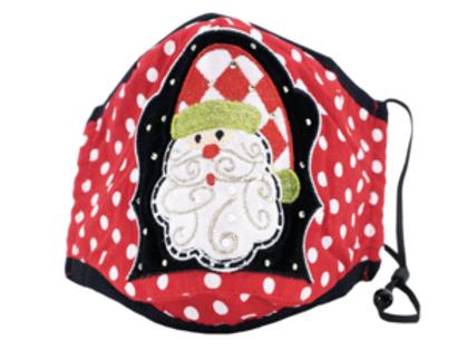 BEREK Polka Dot Santa Holiday Mask