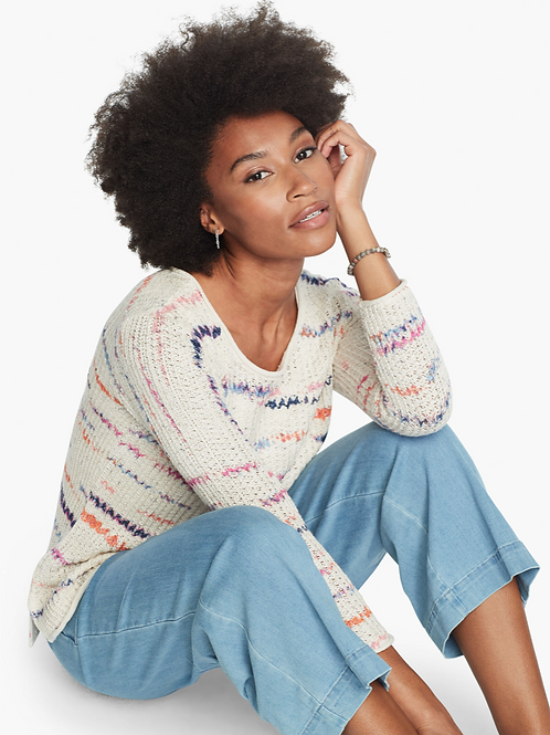 NIC + ZOE Sunset Stripe Sweater