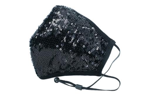 BEREK Black Sequin Mask