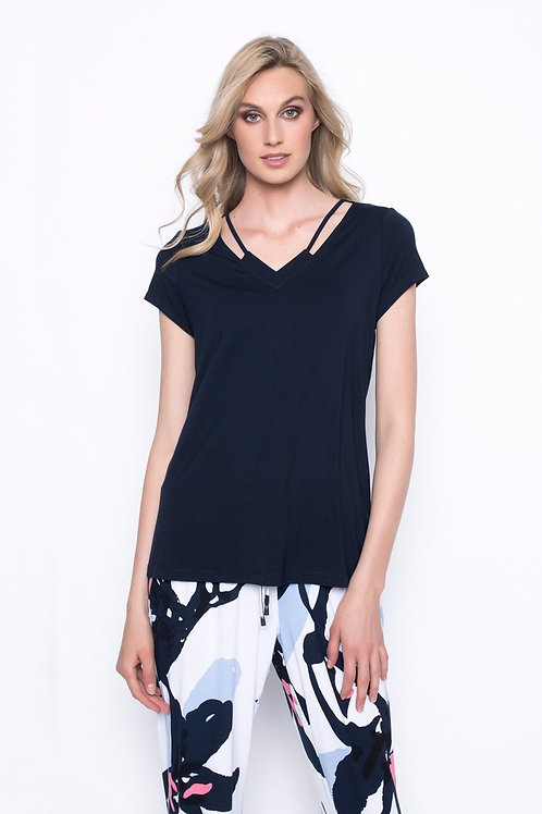 PICADILLY - Black Short Sleeve Top